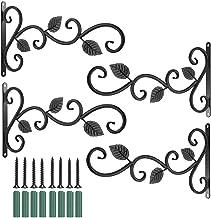 Muur Mount Plank Beugels 4 Stks Wandgemonteerde Ijzeren Haken Plantenhouder Decoratieve Haak voor Opslag Display Tuinieren...