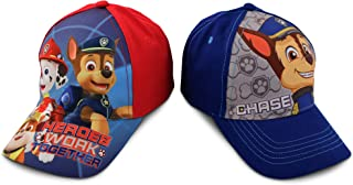 Nickelodeon Little Boys Paw Patrol Character Cotton Baseball Cap, 2 Piece Design Set, Age 2-7