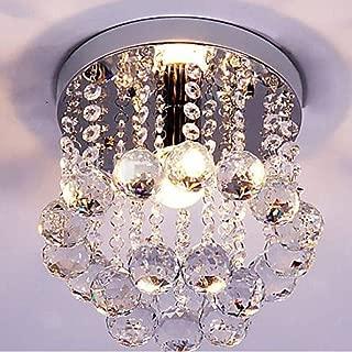 Surpars House Mini Style 1-Light Flush Mount Crystal Chandelier