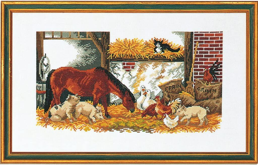 Eva Rose Stand Cross outlet Stitch Translated Set Pigs P Counted Horse Chickens