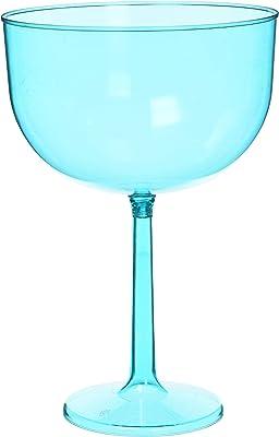 Amscan 351115.54 Jumbo Wine Glass, 47 oz, Caribbean Blue