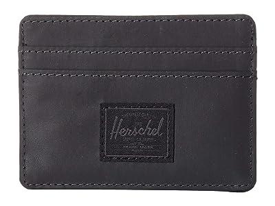 Herschel Supply Co. Charlie RFID (Black Reflective) Wallet Handbags