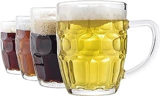 Dimple Stein Beer Mug - 20 OZ (4 Pack)