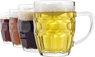 Dimple Stein Beer Mug – 20 OZ (4 Pack)