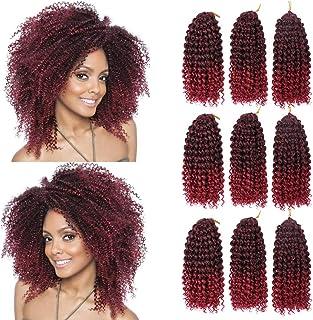 GX Beauty 9Bundles/Lot Short Crochet Braiding Hair Ombre Marlybob Crochet Hair 8Inch Curly Crochet Braids Hair Extensions ...