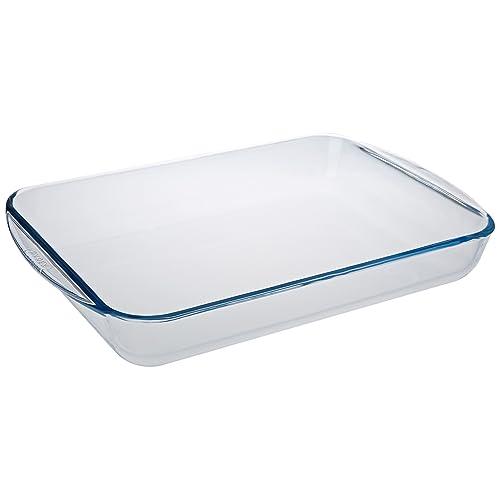 Pyrex - Essentials - Plat à Lasagnes Rectangulaire en Verre - 40 x 27 cm