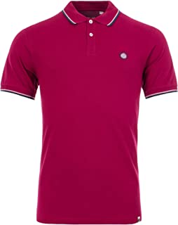 Da Uomo Pretty Green Tipped Pique Polo Shirt in ROSSO