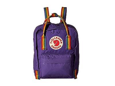 Fjallraven Kanken Rainbow Mini (Purple/Rainbow Pattern) Backpack Bags