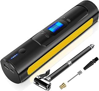AOKBON Bomba de Neumáticos 150 PSI 15L/min Compresor Aire portatil Recargable con Pantalla LCD para Automóviles Motociclet...