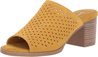 Dirty Laundry by Chinese Laundry Women's TAKE ALL Sandal, MUSTARD SUEDE, 9.5 M US