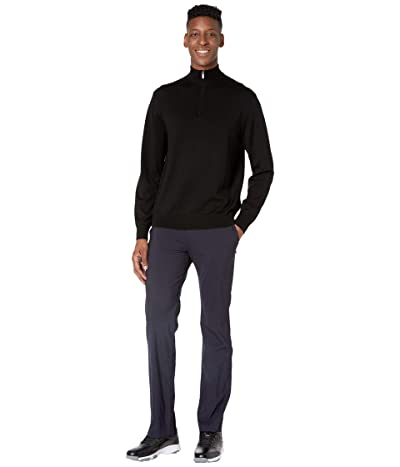 Callaway 1/4 Zip Easy Care Merino Sweater (Black Onyx) Men