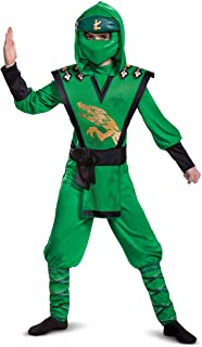 Lloyd Costume for Kids, Deluxe LEGO Ninjago Legacy Themed Children's Charcter Jumpsuit, Child Size Large (10-12)