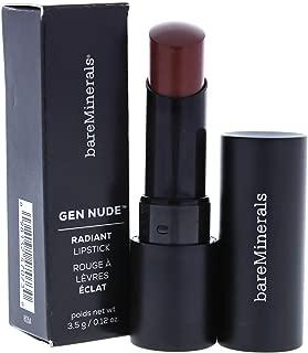 BareMinerals Gen Nude Radiant Lipstick - Queen for Women - 0.12 oz