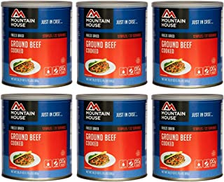 Mountain House Ground Beef #10 Can Freeze Dried Food - 6 Cans Per Case
