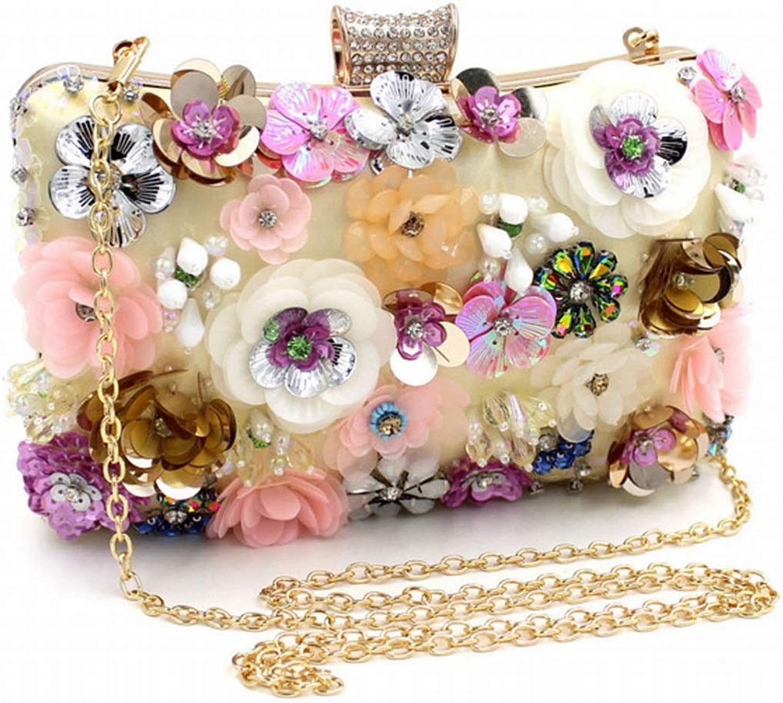 Sixminyo Damen Abend Clutch Floral Design Perlen Perlen Perlen Pailletten Clutch Handtasche B07Q81XSG2  Starke Hitze- und HitzeBesteändigkeit 8dde73