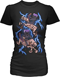 JINX Minecraft Skeleton Riders Women's Premium Tee Shirt