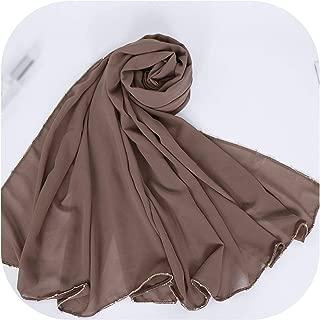 Gold Chain Hijab Buble Chiffon Scarf Shimmer Shawls Plain Scarvess Cotton Headband Scarves 10Pcs/Lot 20 Color