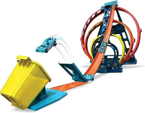 Hot Wheels GLC96 Track Builder Triple Loop Stunt Loops 1:64 scale Vehicles