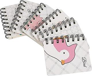 6 قطع مصغرة دوامة مفكرة تصميم الحيوان كلية مفكرة حاكم دفتر الكتابة مذكرات يوميات للمدرسة المكتبية
