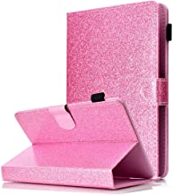 Universal 9-10 inch Tablet Case, ANGELLA-M Bling Glitter Sparkle Luxury PU Leather Cover Multiple Viewing Angles Stand, Case Samsung Galaxy Tab S2 9.7 SM-T815 /T810 /T813 - Pink
