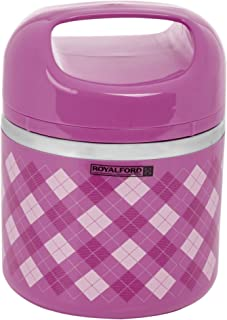 Royalford Stainless steel Single Food Container Pink, Multi