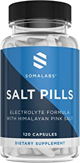 Salt Pills with Electrolytes | 120 Capsules | Electrolyte Replacement Salt Tablets Supplement | Post Workout Recovery for Runners and Sport Athletes | Increase Hydration & Stop Muscle Cramps