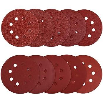 Lack Klett-Schleifbl/ätter f/ür Holz Schleifpapier rund f/ür Exzenterschleifer 40-240 K/örnung Metall 300 x Schleifscheiben 125 mm Klett