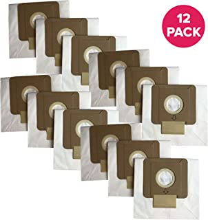 Crucial Vacuum Replacement Vac Bags - Compatible With Dirt Devil Part # AD10030, 304235002, 304235001, 3-04235-00 & 83-2450-06 - Dirt Devil Type O Bags Fit Tattoo Canister Vacuums - For Home (12 Pack)