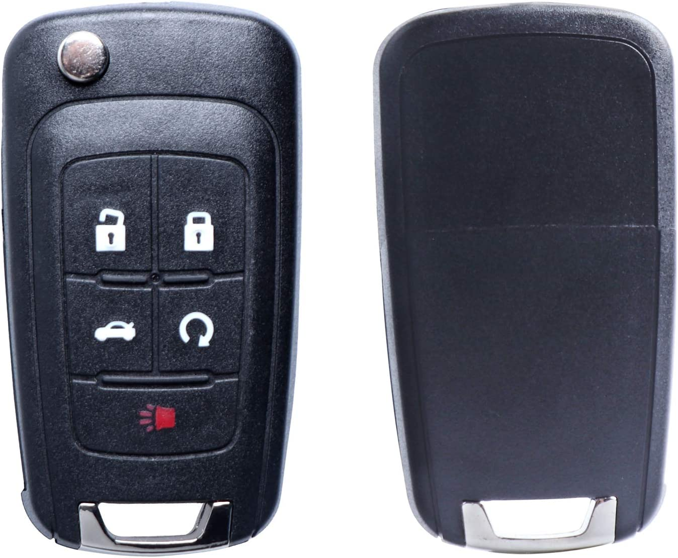 Replacement Uncut Trunk Car Key Fob Keyless Entry Remote Flip Fits 2010-2019 Chevy Equinox,2011-2016 Chevy Cruze,2010-2016 Chevy Malibu Camaro OHT01060512 Pack of 2