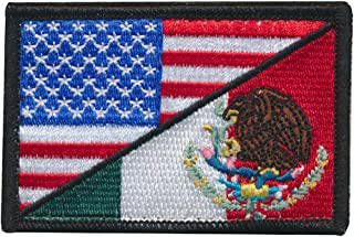 Tactical USA Flag/Mexico Flag Embroidered Patch