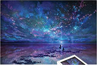 1000 Pieces Wooden Jigsaw Puzzle Oil Paiting Fantasy Romantic Star Sea