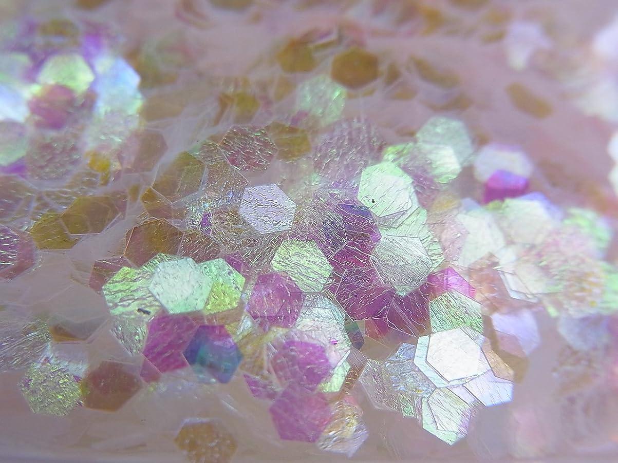 否認するラボ懐疑論【jewel】六角ホログラム オーロラホワイト 2.5mm 0.5g