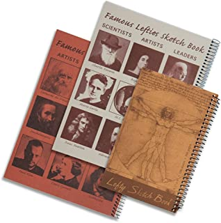 Lefty's Left-Handed Sketch Books, Set of 3 Styles