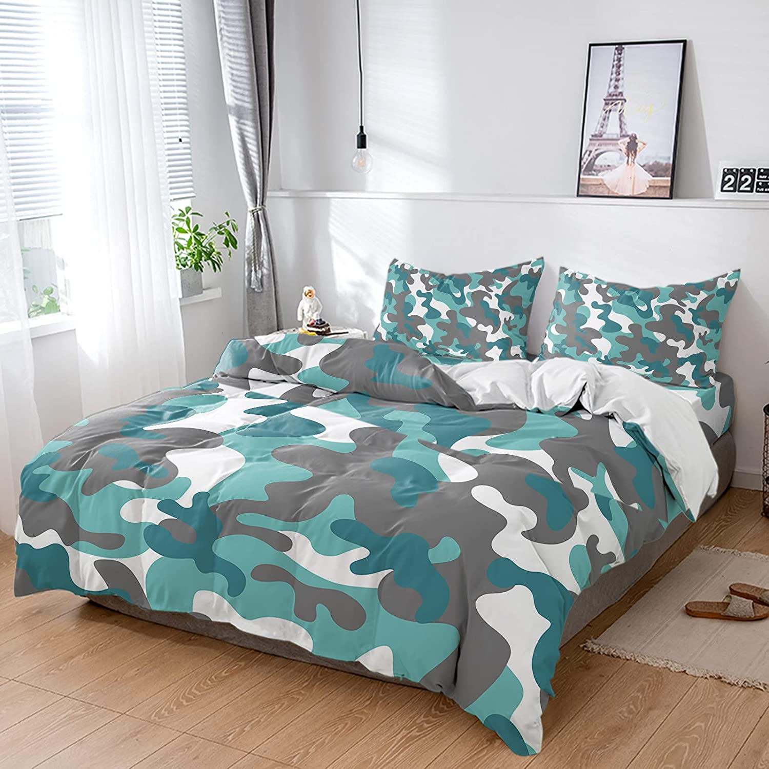 Military Camouflage Ranking TOP3 Duvet Cover Sets 4 Full Ultra Max 49% OFF Piece Soft Bed