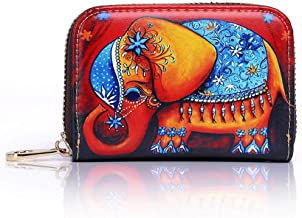 TAIDILONG Accordion Credit Card Holder Zip Around Large Capacity Travel Wallet for Women Ladies