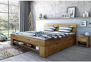 Elfo Sevilla Lit futon 180 x 200 cm avec tiroirs en chêne sauvage