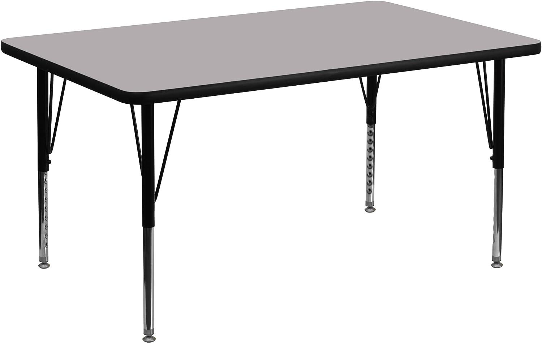 Flash Furniture 30''W x 48''L Laminate Las Vegas Mall Grey Rectangular Thermal Max 40% OFF