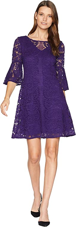 Scallop Lace Pattern Dress