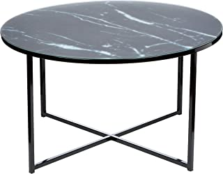 Amazon Brand - Movian Rom - Mesa de centro 80 x 80 x 45 cm negro