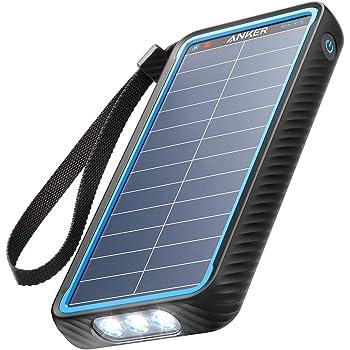 Anker PowerCore Solar 10000 (ソーラーモバイルバッテリー 10000mAh 大容量)【ソーラーチャージャー/防塵/防水 / IP64対応 / フラッシュライト搭載/低電流モード搭載/PSE認証済】iPhone & Android 各種対応