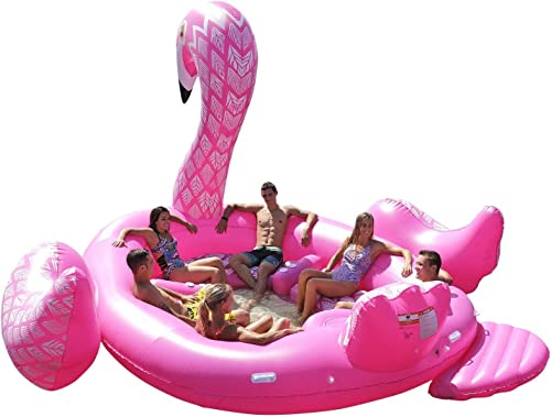 a la venta L-YY Flotador de Flamenco, Isla Isla Isla de Fiesta para Personas (5 Personas), Isla de Aves (Party Bird Island - Flamingo), Inflable, Enorme, Inflable y Formal.  calidad auténtica