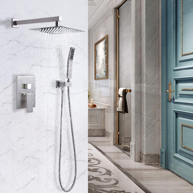 Buy Rugus Shower System,Luxury Rain Mixer Shower Combo Set Wall ...