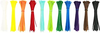 Summer-Home Self Locking Nylon Cable Zip Ties in 11 Colors(White,Yellow,Orange,Red,Sky Blue,Fluorescent Green,Green,Blue,Purple,Coffee,Black)- 6