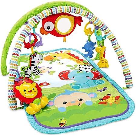 Fisher-Price CHP85 Palestrina della Foresta con 3 Livelli di Gioco, 5 + 1 giocattoli, Musica e Suoni, Morbido Tappetino Facilmente Lavabile, per Neonati da 0+ Mesi, Imballaggio Standard