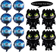 12PCS How to Train Your Dragon Toothless Night Fury Balloons Party Supplies Decorations