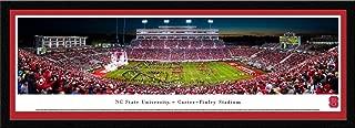 NC State Football - 50 Yard Line Night Game - Blakeway Panoramas Poster Print