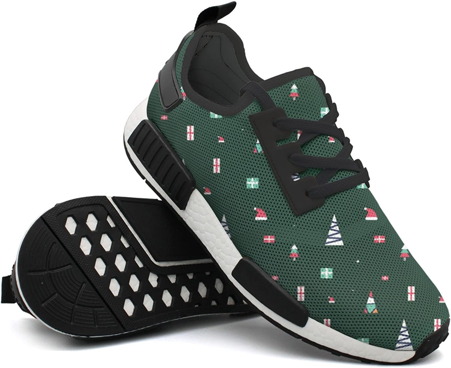 Fashion Sneakers shoes For Men Christmas Element Pattern Original Lightweight Breathable Mesh Mens Gym shoes