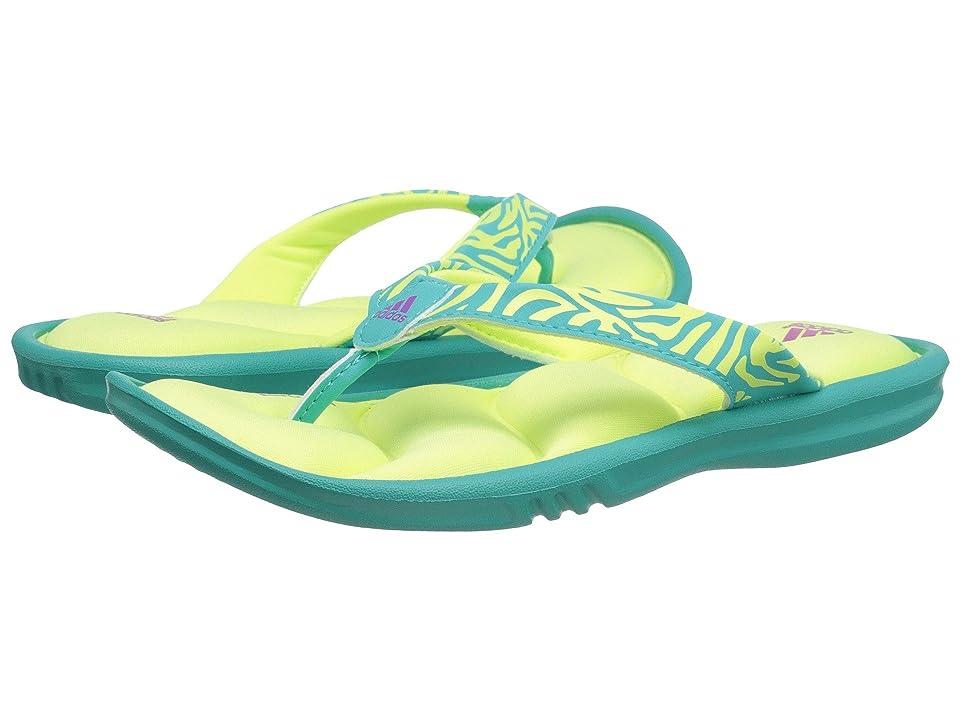 adidas Kids Chilwyanda FF K (Toddler/Little Kid/Big Kid) (Vivid Mint/Light Flash Yellow/Flash Pink) Girls Shoes