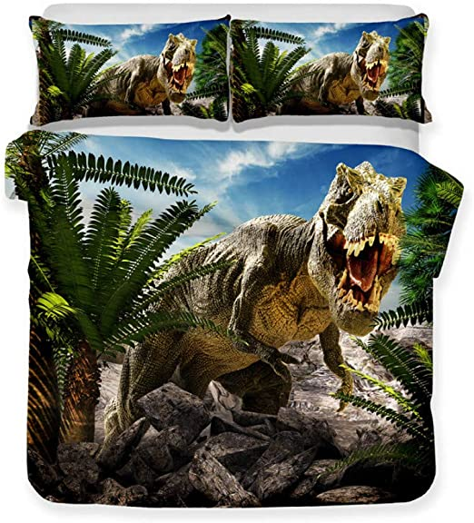 3D Jurassic World Print Duvet Cover Bedding Set Pillowcase Quilt//Doona Cover