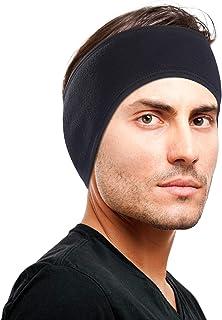 Omenex Winter Headband Double-Layer Fleece More Thicker Men's Headband/Women's Ponytail Earband Ear Warmer